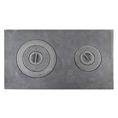 Плита чугунная Булат ПД-3 двоканфорная 71*41 см - фото