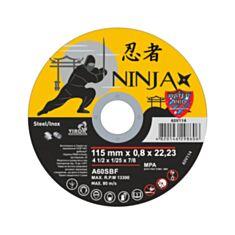 Диск відрізний по металу Virok 65V114 Ninja 115*22,23*0,8 мм - фото