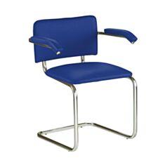 Кресло для посетителей Nowy Styl Sylwia ARM синее - фото