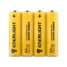 Батарейка Enerlight Super Power R6 AA Zink-Carbon 1,5V 4 шт - фото