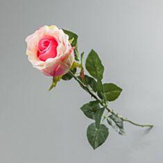 Штучна квітка Троянда силіконова 086F/pink 70см