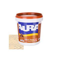 Лазурь декоративная Aura Lasur Aqua для защиты древесины прозрачная 0,75 л - фото