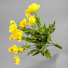 Штучна квітка Космея (букет) жовта 053F 30см