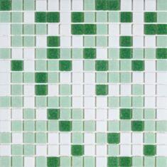 Мозаика Vivacer GLmix200 32,7*32,7 бело-зеленая
