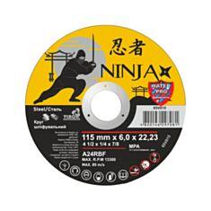 Диск шліфувальний по металу тип 27 Virok 65V015 Ninja 115*22,23*6,0 мм - фото