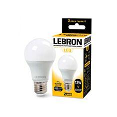 Лампа светодиодная Lebron LED L-A60 12W E27 4100K 1050Lm угол 240° - фото