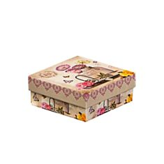 Коробка подарункова Elisey 8020-013 Кульбаби 18*18*8 см бежева - фото