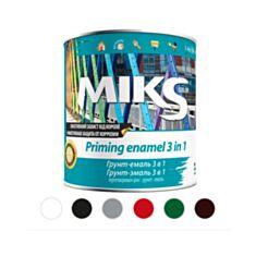 Грунт-эмаль антикоррозионная Miks Color 3 в 1 графитово-серая 0,8 кг - фото