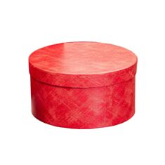 Коробка подарункова Elisey 8020-004 Штрихи художника 22*12 см червона - фото