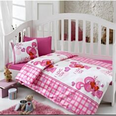 Комплект постельного белья Cotton Box Baby Ranforce Dunyam Pink 100*150