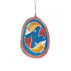 Писанка мала синя з рибинами Koza Dereza 2025010017 - фото