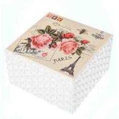 """Дерев'яна скринька """"Троянди Париж"""" 116TP 16*16*9 см"""