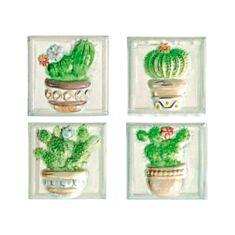 Плитка Herberia Acquerello Formella Piante Grasse декор 10 * 10 см зеленая - фото