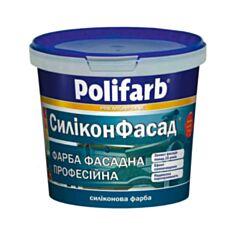 Фасадна фарба силіконізована Polifarb Силіконфасад 14 кг білий