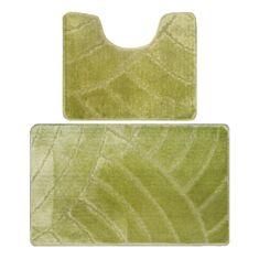 Набір килимків для ванної кімнати Banyolin 50*80 + 50*40 см салатовий - фото