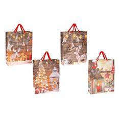 Пакет подарочный BonaDi PK4-133 Happy Holidays 55 см - фото