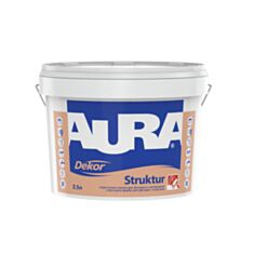 Интерьерная краска акриловая Aura Dekor Struktur белая 2,5 л - фото