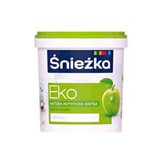 Фарба водоемульсійна Sniezka Еко біла 1,4 кг - фото