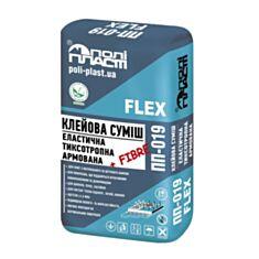 Клей для плитки Полипласт ПП-019 Flex эластичный 25 кг - фото