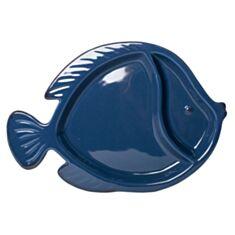 """Тарілка секційна """"Риба"""" синя 106339 25*18 см"""