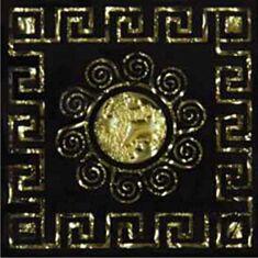 Декор Grand Kerama Тако скло Візантія 6,6*6,6 золото - фото