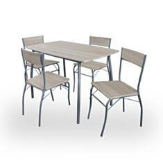 Комплект стол и стулья Signal Modus дуб сонома - фото
