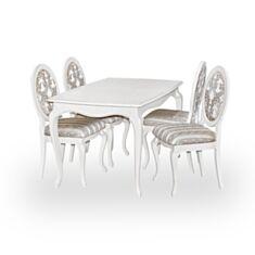 Комплект стіл та стільці Арт-ніко Елегант білий - фото