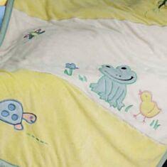 Плед детский Le Vele Лягушка 100 * 150 кремово-желтый - фото