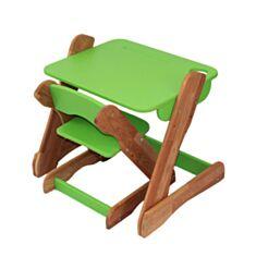 Столик і стільчик дитячий Карапуз p101+c101 зелений
