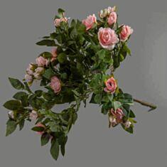 Штучна квітка Троянди (букет) рожевий 107F 50см