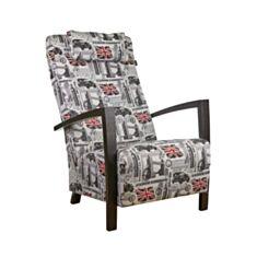 Крісло м'яке Мюнхен принт текстиль - фото