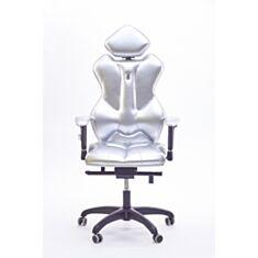 Крісло Royal Екошкіра срібна