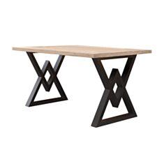 Стол обеденный Металл-Дизайн Астон 160*80 см вествуд/черный - фото