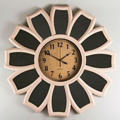 Годинник настінний бежевий 46см 073A/ cream - фото