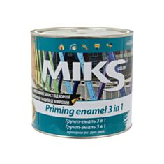 Грунт-эмаль антикоррозионная Miks Color 3 в 1 желтая 2,5 кг - фото