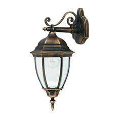 Светильник парковый Lusterlicht QMT 1277S Dallas II 100W стекло старое золото