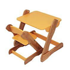 Столик і стільчик дитячий Карапуз p101+c101 помаранчевий