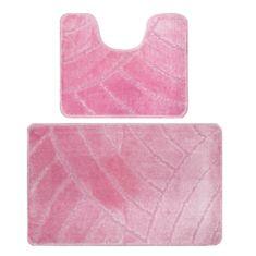Набір килимків для ванної кімнати Banyolin 60*100 + 60*50 см рожевий - фото